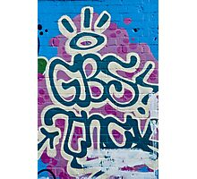 Abstract Graffity on the Brick wall Photographic Print