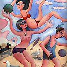 Fun on the beach by Karin Zeller