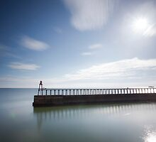 Whitby East Pier by Carl Mickleburgh
