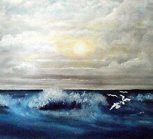 Rough Sea by Kathleen Ann Newton