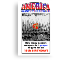 America Wants To Know #35 Canvas Print