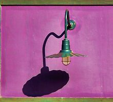 Lamp on Purple and Wood by hastypudding