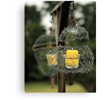 Wire Lanterns Canvas Print