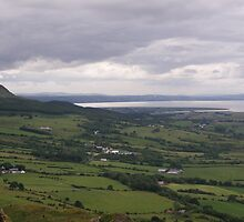 Benevenagh Mountain Magilligan Co. Derry looking over Lough Foyle  to Co.Donegal Ireland   by mikequigley
