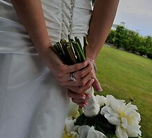 Bride, ring, flowers by Mark  Allen