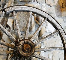 Wagon Spare Wheel by Al Bourassa