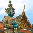 Thailand, Bangkok, Grand Palace , Ramakien guard. by johnrf