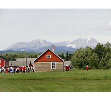 Bar U Ranch, Canada Day 2010 Photographic Print
