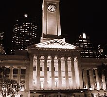 Town Hall, Kings Square, Brisbane, Qld, Australia - Sepia by SunnieGal