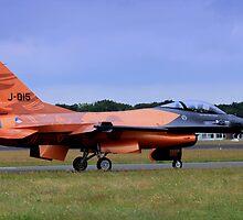 F-16 escort for the dutch football team by DutchLumix