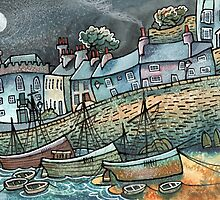 Harbour Ships, Tenby, Pembrokeshire by Dorian Davies