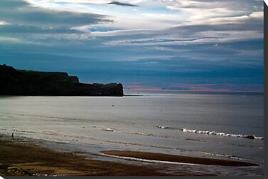 Evening at Sandsend Beach by Trevor Kersley