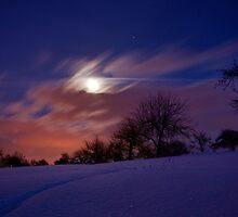 Bright winternight by JEPhotography