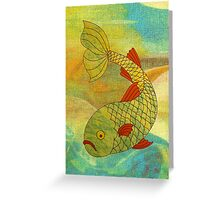Fish in Sea, brighter Greeting Card