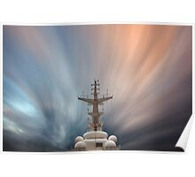 Foremast and Clouds Poster