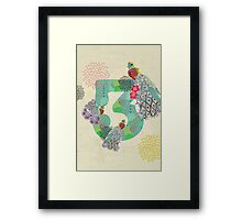 3 [Alphabet Challenge] Framed Print