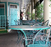 Tables and Chairs in the French Quarter by Hope Ledebur