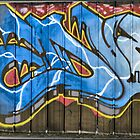 Panoramic Of Graffiti by Russell  Burgess