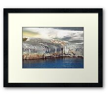 Fiord in Sweden (like woman) Framed Print
