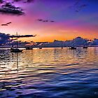 Sunrise Sailboats by Noble Upchurch