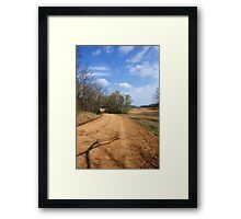 The Story about The DIRT ROAD....... Framed Print