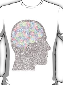 Brain Waves in Technicolor T-Shirt