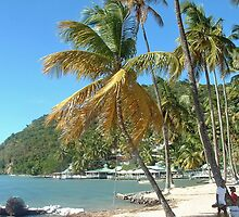 Marigot Bay, beach dreaming by Linda Jackson
