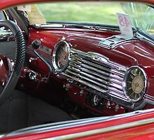 The dash of a 1948 Chevrolet Fleetmaster 2 door Sedan by DonnaMoore