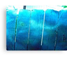 Blue Barriers Canvas Print