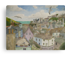 """""""A Crow's Nest View of Port Isaac, Cornwall"""" Canvas Print"""