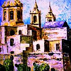 Painting of Mellieha Church Malta by Edgar023