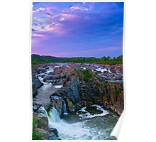 Great Falls Sunset Poster