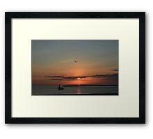 Lake Michigan Sunrise Framed Print