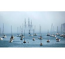Sailing into the Fog   Photographic Print