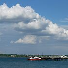 Clouds over the ferry by Ian Ker