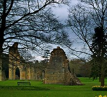 Glastonbury Abbey In Somerset, England. by Aj Finan