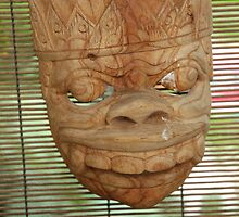 wooden mask by bayu harsa