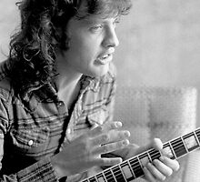 Angus Young AC/DC by Sue Arber
