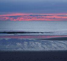 Brooms Head Sunrise. by Virginia McGowan