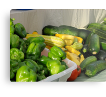 Peppers and Squash Metal Print
