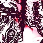 Purple Fabric Swirls by Anwuli Chukwurah