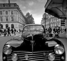 Old Peugot car in HDR and black and white by Martin Soler