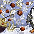 penguin and spaghetti  by Marie-Elena