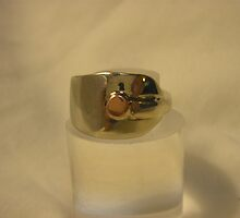 Ring from old teaspoon by Brian Cox