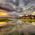 Sundown at Willow Lake by Bob Larson