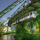 Monorail in Wuppertal in mild HDR by Hans Kool