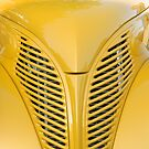 Yellow Custom Car Hood & Grille by Mark J Kopczewski