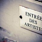 Entrée des artistes by Angel Benavides