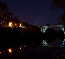 Iron Bridge Illuminated by John Hallett