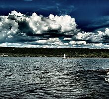 I Love Clouds Over Water by AlGrover
